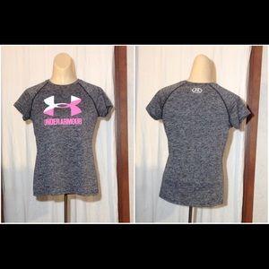 Girl's Size YLG Under Armour Heat Gear Shirt Top